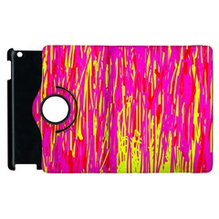 Pink And Yellow Pattern Apple Ipad 2 Flip 360 Case by Valentinaart