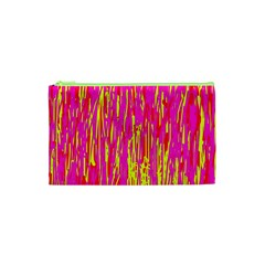 Pink And Yellow Pattern Cosmetic Bag (xs)