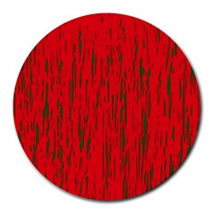 Decorative Red Pattern Round Mousepads by Valentinaart