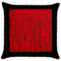 Decorative Red Pattern Throw Pillow Case (black) by Valentinaart