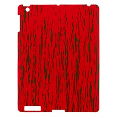 Decorative Red Pattern Apple Ipad 3/4 Hardshell Case by Valentinaart