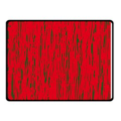 Decorative Red Pattern Double Sided Fleece Blanket (small)  by Valentinaart