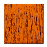 Orange pattern Tile Coasters Front