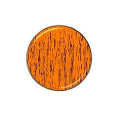 Orange Pattern Hat Clip Ball Marker (4 Pack) by Valentinaart