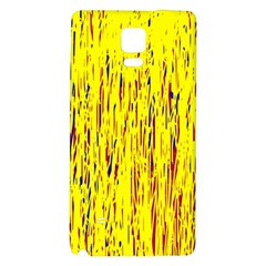 Yellow Pattern Galaxy Note 4 Back Case by Valentinaart