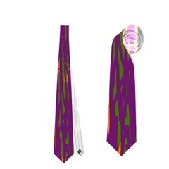 Purple Pattern Neckties (two Side)  by Valentinaart