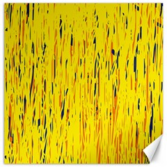 Yellow pattern Canvas 12  x 12