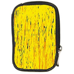 Yellow Pattern Compact Camera Cases by Valentinaart