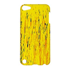 Yellow Pattern Apple Ipod Touch 5 Hardshell Case by Valentinaart