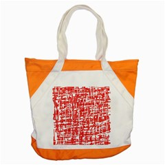 Red Decorative Pattern Accent Tote Bag by Valentinaart