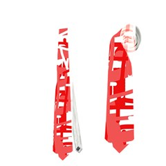 Red Decorative Pattern Neckties (two Side)  by Valentinaart