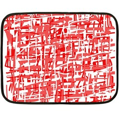 Red Decorative Pattern Fleece Blanket (mini) by Valentinaart