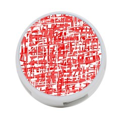 Red Decorative Pattern 4 Port Usb Hub (two Sides)  by Valentinaart