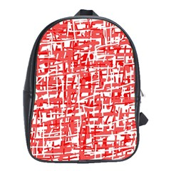 Red Decorative Pattern School Bags (xl)  by Valentinaart