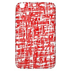 Red Decorative Pattern Samsung Galaxy Tab 3 (8 ) T3100 Hardshell Case  by Valentinaart
