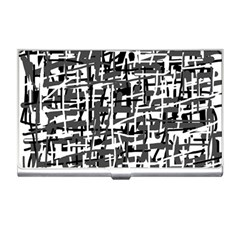 Gray Pattern Business Card Holders by Valentinaart
