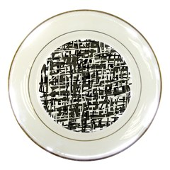 Gray Pattern Porcelain Plates by Valentinaart
