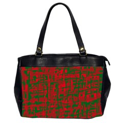 Green And Red Pattern Office Handbags (2 Sides)