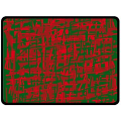 Green And Red Pattern Fleece Blanket (large)  by Valentinaart