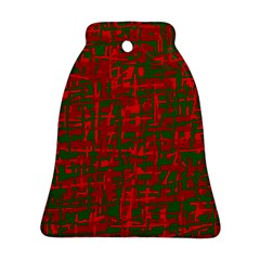 Green And Red Pattern Bell Ornament (2 Sides) by Valentinaart