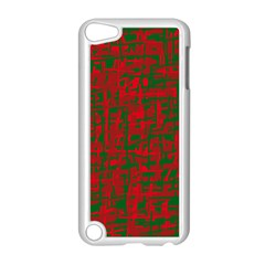Green And Red Pattern Apple Ipod Touch 5 Case (white) by Valentinaart