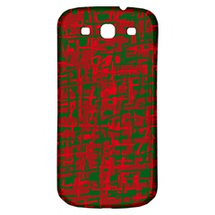 Green And Red Pattern Samsung Galaxy S3 S Iii Classic Hardshell Back Case by Valentinaart