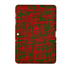 Green And Red Pattern Samsung Galaxy Tab 2 (10 1 ) P5100 Hardshell Case  by Valentinaart