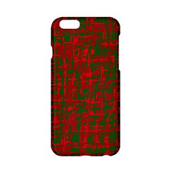 Green And Red Pattern Apple Iphone 6/6s Hardshell Case by Valentinaart