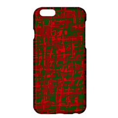 Green And Red Pattern Apple Iphone 6 Plus/6s Plus Hardshell Case by Valentinaart