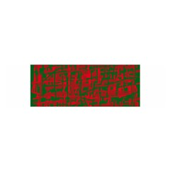 Green And Red Pattern Satin Scarf (oblong) by Valentinaart