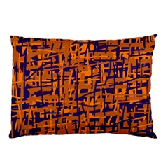 Blue And Orange Decorative Pattern Pillow Case (two Sides) by Valentinaart