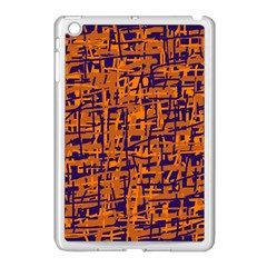 Blue And Orange Decorative Pattern Apple Ipad Mini Case (white) by Valentinaart