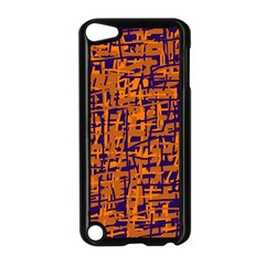 Blue And Orange Decorative Pattern Apple Ipod Touch 5 Case (black) by Valentinaart