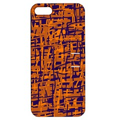 Blue And Orange Decorative Pattern Apple Iphone 5 Hardshell Case With Stand by Valentinaart