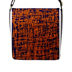 Blue And Orange Decorative Pattern Flap Messenger Bag (l)  by Valentinaart