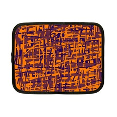 Orange And Blue Pattern Netbook Case (small)  by Valentinaart