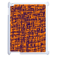 Orange And Blue Pattern Apple Ipad 2 Case (white) by Valentinaart