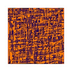 Orange And Blue Pattern Acrylic Tangram Puzzle (6  X 6 ) by Valentinaart