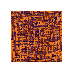 Orange And Blue Pattern Acrylic Tangram Puzzle (4  X 4 ) by Valentinaart