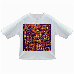 Orange, Blue And Yellow Pattern Infant/toddler T Shirts by Valentinaart