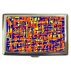Orange, Blue And Yellow Pattern Cigarette Money Cases by Valentinaart