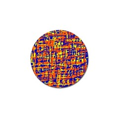 Orange, Blue And Yellow Pattern Golf Ball Marker (10 Pack) by Valentinaart