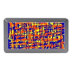 Orange, Blue And Yellow Pattern Memory Card Reader (mini) by Valentinaart