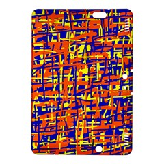Orange, Blue And Yellow Pattern Kindle Fire Hdx 8 9  Hardshell Case by Valentinaart