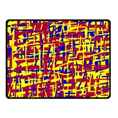 Red, Yellow And Blue Pattern Fleece Blanket (small) by Valentinaart