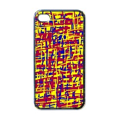 Red, Yellow And Blue Pattern Apple Iphone 4 Case (black) by Valentinaart