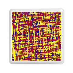 Red, Yellow And Blue Pattern Memory Card Reader (square)