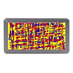 Red, Yellow And Blue Pattern Memory Card Reader (mini) by Valentinaart