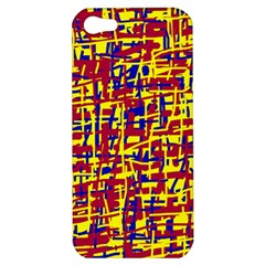 Red, Yellow And Blue Pattern Apple Iphone 5 Hardshell Case by Valentinaart