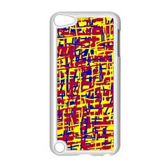 Red, Yellow And Blue Pattern Apple Ipod Touch 5 Case (white) by Valentinaart